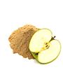 Apfelfasern mit angeschnittenen Apfel