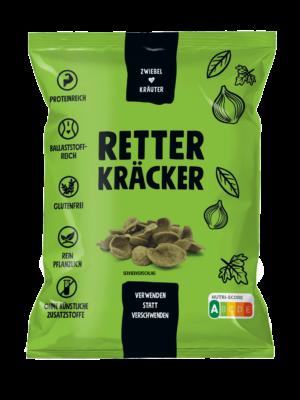 ZeroBullShit Retter Kräcker Verpackung Zwiebel-Kräuter