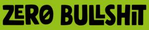 Zero Bullshit Logo_Gruen-schwarz_längs